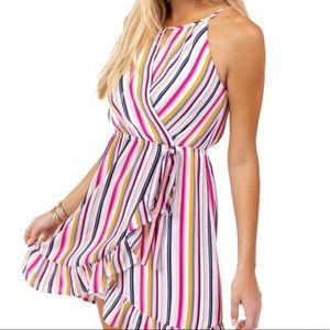 NWT Francesca's Rainbow Stripe Dress